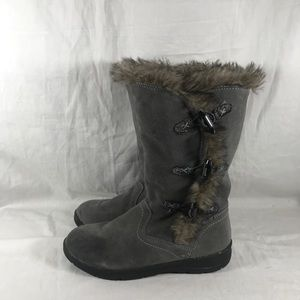 White Mountain Tantalus boots with faux fur Grey
